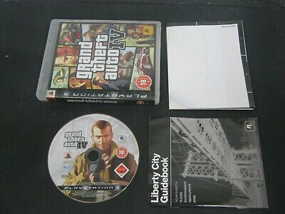 PS3 Playstation 3 Pal Game GRAND THEFT AUTO IV with Box Manual