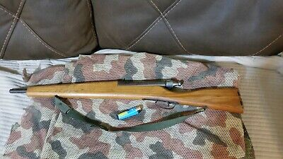 very nice old hand made rifle toy wooden and metal WOW!!