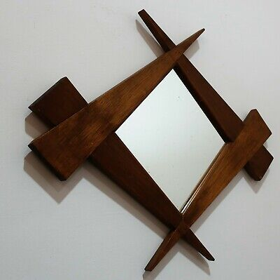 Beautiful Art Deco Mirror With Wooden Frame