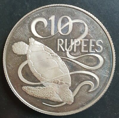 1974 Seychelles 10 Rupees Silver Cameo Proof (Impaired)......