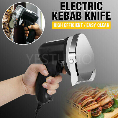 Commercial Kebab Knife Electric Meat Carver Slicer Shawarma Doner Cutter Machine