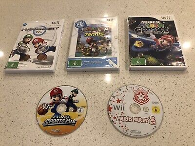 Mario Brothers Nintendo Wii Games (5 Games)