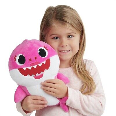OFFICIAL *PINKFONG SINGING MUMMY SHARK* Plush Soft Toy, Pink (NEW)💕 Baby Shark