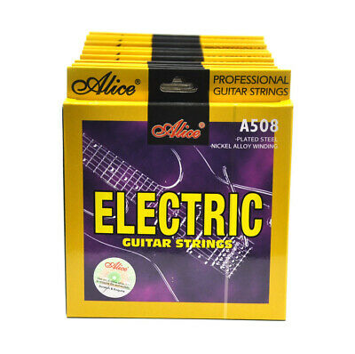 12Sets Alice Electric Guitar Strings Plated Steel Nickel Alloy Winding A508L