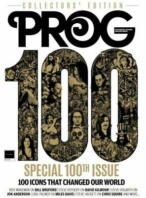 Prog Magazine + Cd August 2019 (100Th Issue Special) Yes, David Gilmour, Genesis