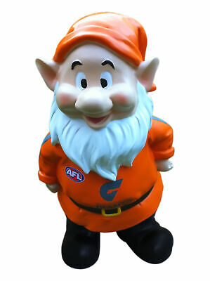 Greater Western Sydney Giants AFL Garden Gnome In Team Colours and Team Name