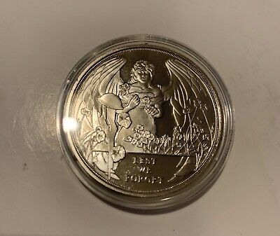 2017 Proof Lest we Forget Gibraltar One Crown WW1 Coin untouched in capsule