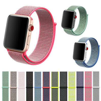 Sports Loop Band Woven Nylon Replacement Strap For Apple Watch Series 1 2 3 4