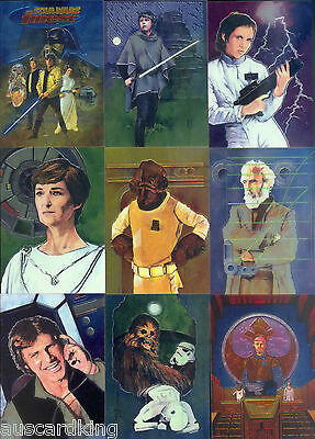 Star Wars - Finest Chrome - Complete 90 Trading Card Set - Topps 1996 - NM