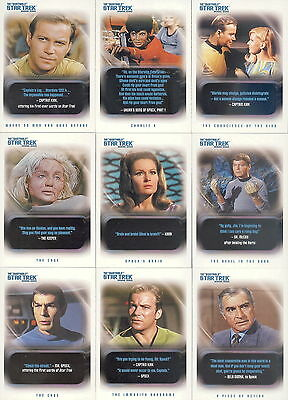 Star Trek Original - The Quotable - Complete 110 Trading Card SET - 2004 - NM