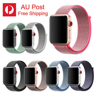 Replacement Nylon Woven Sports Loop Band Strap For Apple Watch Series 38mm/42mm