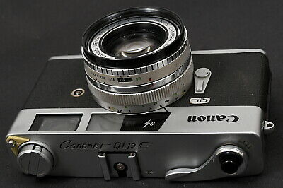 Canon Canonet QL19E Chrome Compact 35mm Film Camera c/w SE 45mm f/1.9 Lens Kit