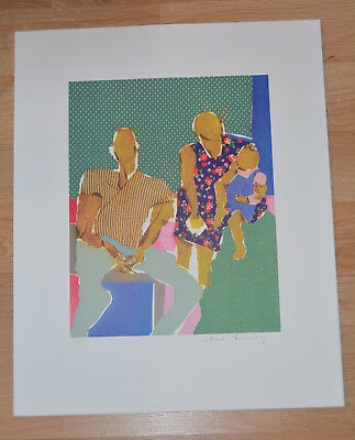 Rare LITHOGRAPH PHOEBE BEASLEY African American Artist 17x21 Los Angeles 96/99