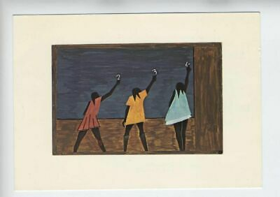 Jacob Lawrence Signed Postcard 1975 African American Artist
