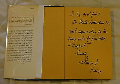 African American Atlanta 1971 Mayor Martin Luther King Sr ! signed first edition