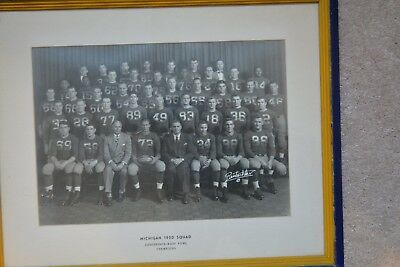 "Early! 1950 Michigan Wolverines Team Photo Football Framed 15 3/4"" X 19 1/4"""