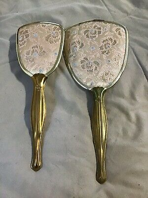 Vintage Dresser Set Brush And Mirror