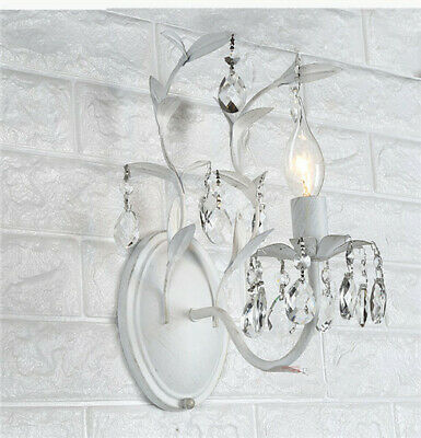Bedroom Stairs Aisle Lights Living Room Bedside Wrought Iron Crystal Wall Lamp