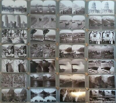 Collection Of 28 Antique Stereoviews - Various Scenes, People, Places, Animals