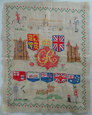 1937 King George Vi Commemorative Childs Sampler - Commonwealth Flags & Soldiers