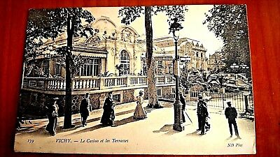 CPA animée 1905, Old Postcard France, 179 VICHY. Le Casino et les Terrasses