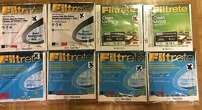 6 Filtrete 600 Dust and Pollen Filter 2 Filtrete 300 Dust Reduction - 12x12x1