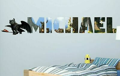 How To Train Your Dragon Custom Name 3D Wall Decal Sticker Decor Vinyl Kid MA326