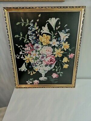 Vintage Needlepoint Tapestry Framed