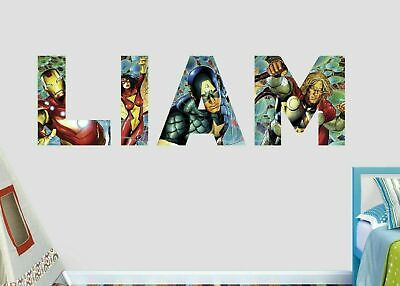 Avengers Group Custom Name Wall Decal Sticker Decor Art 3D Vinyl AH274