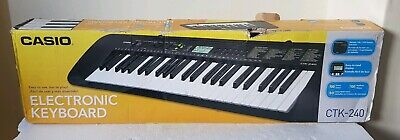 Casio Ctk-240 Electronic Keyboard 69 Full Size Key In Original Box Fully Working