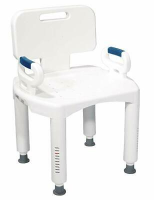 Drive Medical Premium Series Shower Chair with Back and Arms, 350 pound capacity