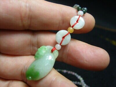 FINELY CARVED   Jade Statue//Necklace - See Video     n14