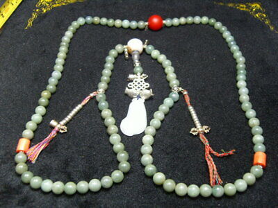 FINELY CARVED   Jade Statue//Necklace - See Video   n19