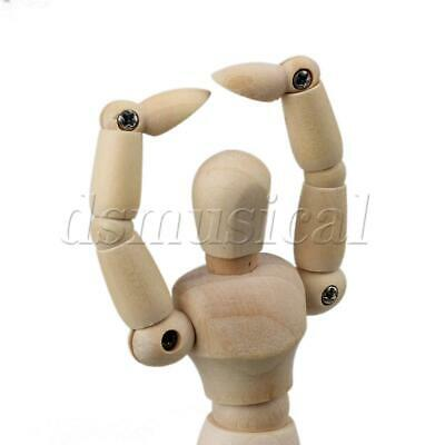Wooden Mini Artist Drawing Model Puppet Unisex Manikin Mannequin with Base