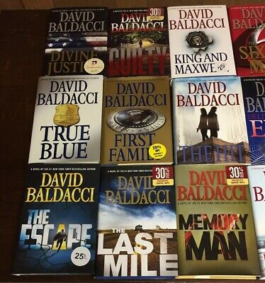 DAVID BALDACCI - Lot of 17 Hardcover Novels First Edition Thriller Grand Central