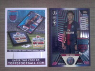TOPPS MATCH ATTAX Champions League 2018/2019 LIMITED EDITION NEYMAR JR LE13 PSG