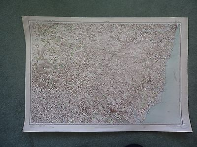 "0.5"" Ordnance Surv CLOTH 25 Map Ipswich 1907 Bury St Edmunds Thetford Lowestoft"