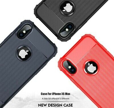 Case for iPhone 7/8 plus X XR XS Max Shock Proof cover +Tempered Glass Protector