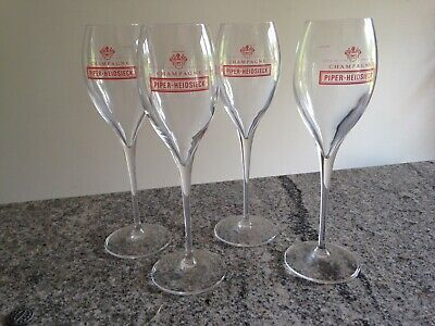 Piper Heidsieck Champagne Flute Glass Rare glass Great Christmas present.