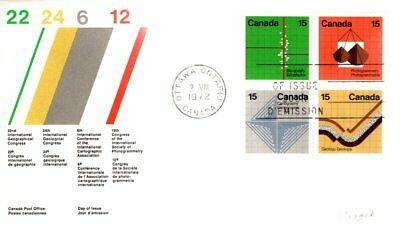 1972 #582p-5p TAGGED Earth Sciences combination FDC with CP cachet