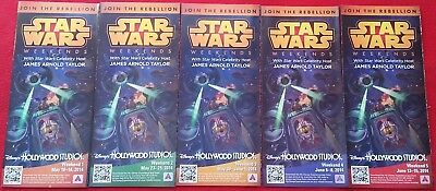 2014 Star Wars Weekends Complete Set Five Park Maps Disney's Hollywood Studios
