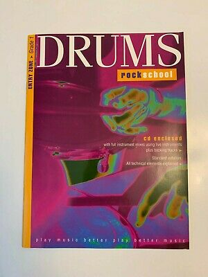 Rockschool Drums Learning/Teaching Book - Entry Zone - Grade 1 Level with CD