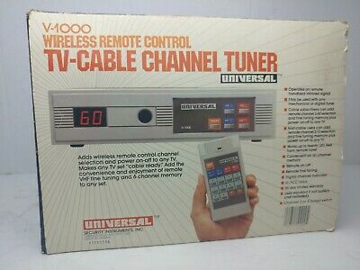 Universal Wireless Remote Control Cable TV Tuner Model V-1000 Vintage