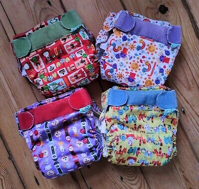 Four TotsBots (tots bots) Easyfit Reusable Nappies Good Used Condition