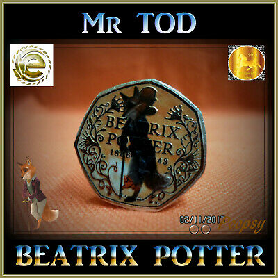 2016 BEATRIX POTTER COIN Mr TOD COLOURED 50p FIFTY PENCE PETER RABBIT S1