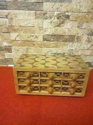 Vintage Wooden Box With Drawers
