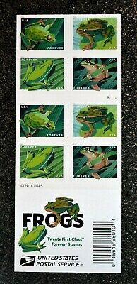 2019USA Frogs - Booklet of 20  Mint