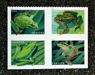2019USA Forever Frogs - Block of 4 From Booklet of 20  Mint