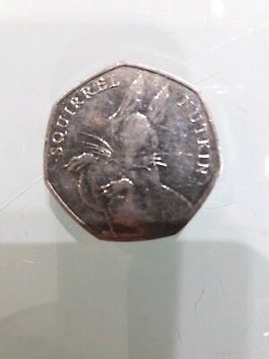 50p Rare Squirrel Nutkin 50p fifty pence coin - CIRCULATED