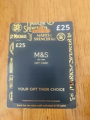£25 Marks And spencer Gift Card M&S